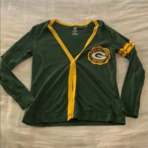 Green Bay Packers cardigan Small